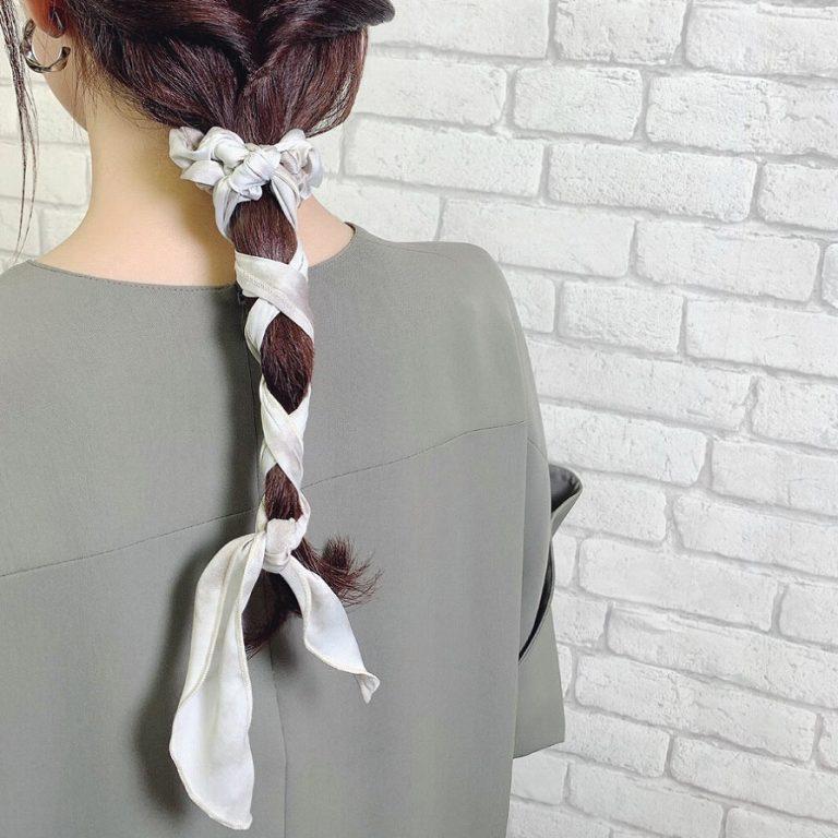 タイダイ柄ロングシュシュ(パターン3)